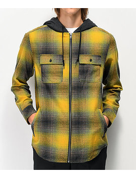 Empyre Chadder Yellow Hooded Flannel Shirt by Empyre