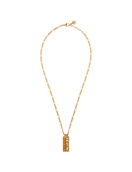 Gold Logo Necklace by Versace