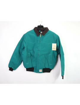Vintage 90s New Carhartt Lined Corduroy Bomber Jacket Teal by Vintage  ×  Carhartt  ×