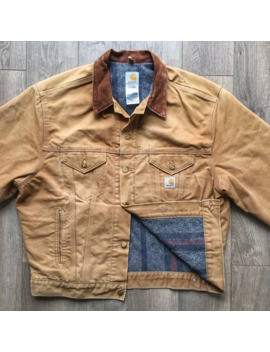 Vintage Carhartt Blanket Lined Duck Denim Jacket by Carhartt  ×