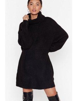 Knit Just Got Better Turtleneck Sweater Dress by Nasty Gal