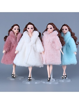 11 Inch 30 Cm Princess Clothes Fashion Winter Fur Coat For Dolls Clothes Long Dress Coat Doll Accessories Barbie Doll Clothes Princess by Wish