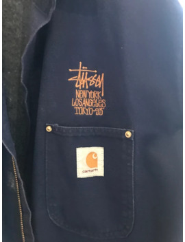 Extremely Rare 1993 Carhartt X Stussy Work Jacket Sz L by Stussy  ×  Carhartt  ×