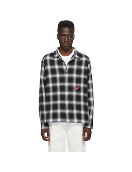 Black & White Depeche Mode Shadow Plaid Shirt by Noah Nyc