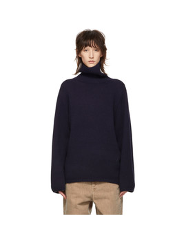 Navy Cambridge Turtleneck by TotÊme