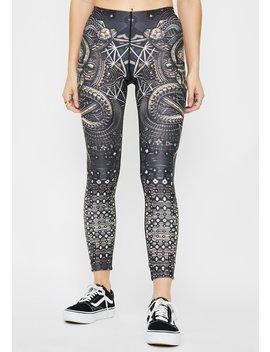 Skullodelic Lady Printed Leggings by Equilibrium Clothing