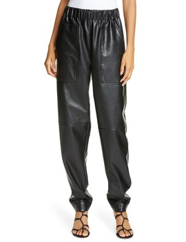 Faux Leather Jogger Pants by Tibi