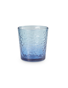 Mainstays Frosted Blue 13 Ounce Double Old Fashioned Drinking Glasses, 8 Piece Set by Mainstays