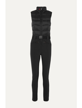 Super Star Belted Quilted Padded Ski Suit by Perfect Moment