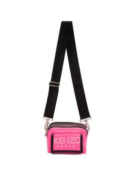 Pink Sport Logo Crossbody Bag by Kenzo