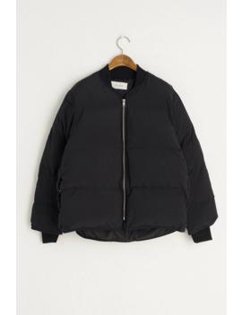 Padded Bomber Jacket, Black by Olive