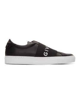 Black & White Elastic Urban Street Sneakers by Givenchy