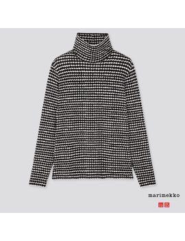 Marimekko Heattech Extra Cálido Camiseta Cuello Alto Mujer by Uniqlo