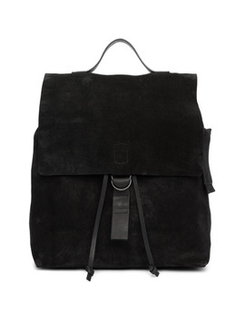 Black Suede Cartaino Backpack by MarsÈll