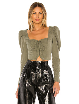 The Duffy Blouse In Olive Green by L'academie