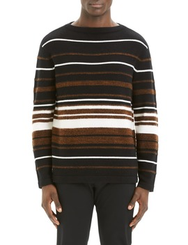 Hilles Stripe Regular Fit Cashmere Sweater by Theory