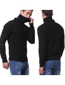 Hemiks Men's Autumn Winter Casual Long Sleeve Turtle Neck Knitwear Sweaters Pullovers by Hemiks