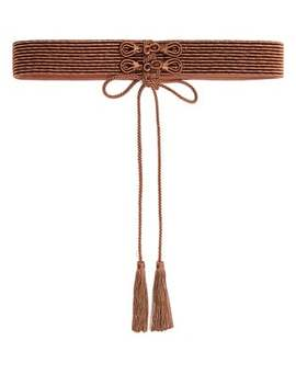 Braid And Tassel Satin Belt by Thierry Colson