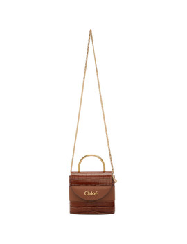 Brown Croc Small Aby Lock Bag by ChloÉ