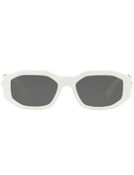 Hexad Signature Square Frame Sunglasses by Versace Eyewear