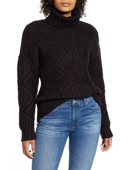 Chunky Cable Knit Turtleneck Sweater by Caslon®
