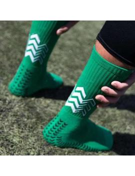 Anti Slip Soccer Socks Men Triangle Arrow Shape Socks Competition Training Towel Bottom Soccer Socks Football Socks by Ali Express.Com