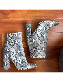 New Snakeskin Boots Uk 6 by Pretty Little Thing