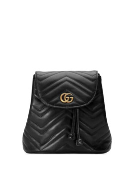 Black Gg Marmont Matelassé Backpack by Gucci