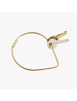 Areaware Contour Key Ring In Drop by Poketo
