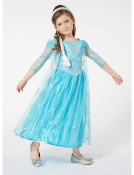 Kids Blue Disney Frozen Elsa Sound And Light Costume by Tu