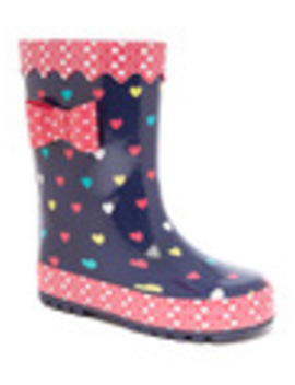 Heart Print Welly (6 Infant   2) by Tu