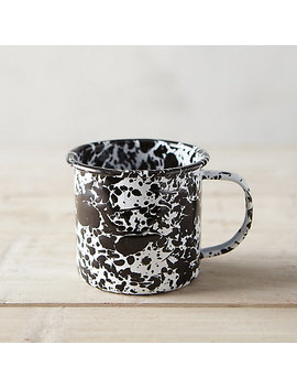Marbled Enamel Mug, Black by Terrain