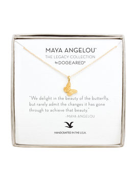 """Maya Angelou """"Beauty"""" Butterfly Necklace, Gold Dipped by Dogeared"""