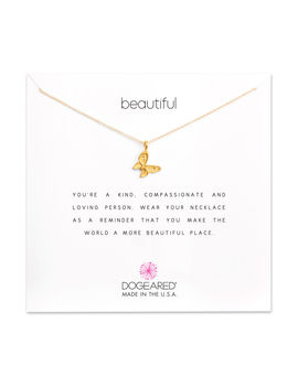 Beautiful Charm Necklace, Gold Dipped by Dogeared