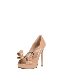 Couture Bow Platform Pumps by Valentino