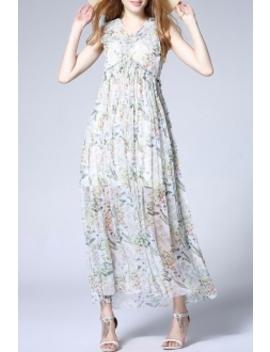 Empire Waist Floral Maxi Dress by Weiguoyue