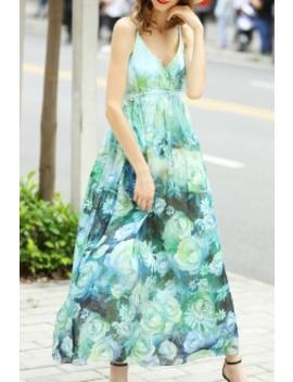 Floral Print Cami Beach Dress by Oyaqin