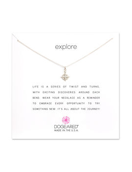 Explore Compass Necklace, Sterling Silver by Dogeared