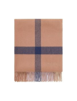 Large Check Scarf by Mulberry