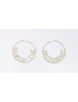 Smash The Patriarchy Hoop Earrings by Wildfang