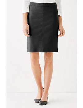 Essential Cotton Stretch Pencil Skirt by J.Jill