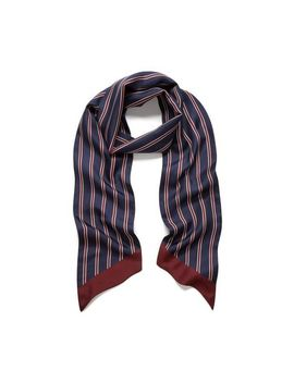 College Stripe Scarf by Mulberry