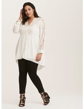 lexie---white-lace-hi-lo-babydoll-tunic by torrid