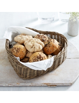Heart Shaped Bread Basket   Natural by The White Company