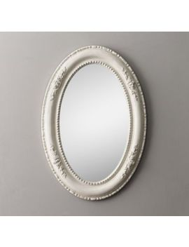 19th C. Louis Philippe Oval Mirror   Heirloom White by Restoration Hardware Baby And Child