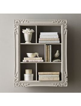 Extra Large Vintage Hand Carved Display Shelf   Antique Grey by Restoration Hardware Baby And Child