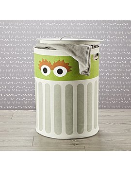 Sesame Street Oscar The Grouch Hamper With Lid by The Land Of Nod