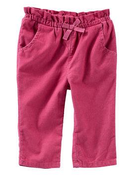 Pull On Corduroy Paperbag Pants by Oshkosh