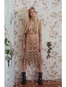 Golden Garden Tulle Midi Dress by For Love & Lemons