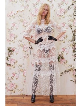 Rosebud Embroidery Maxi Dress by For Love & Lemons